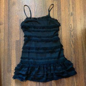 Princess Polly black ruffle dress
